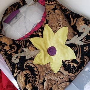 Boho Vintage Hobo Tote Bag